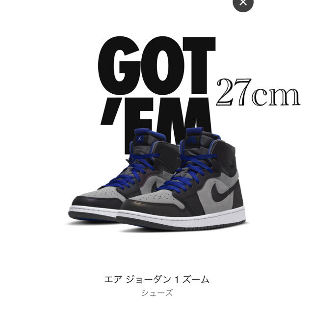 NIKE(ナイキ)の【専用】 JORDAN 1 ジョーダン1 ZOOM Esports  27cm メンズの靴/シューズ(スニーカー)の商品写真