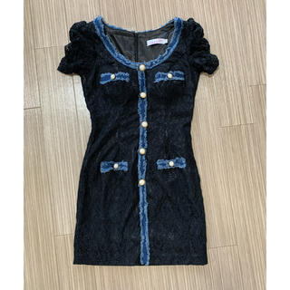 アン(an)のan ドレス サイズM レース デニム(ナイトドレス)