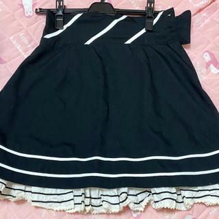 ミルク(MILK)のMILK 黒 スカート(ひざ丈スカート)