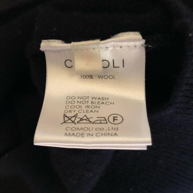 COMOLI(コモリ)のcomoli ボトルネックニット ネイビー サイズ2  メンズのトップス(ニット/セーター)の商品写真