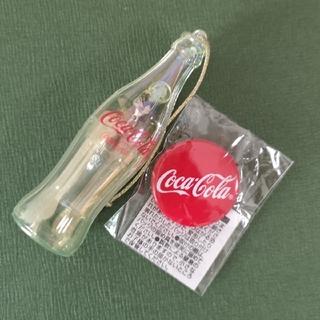 コカコーラ(コカ・コーラ)のCoca-Cola ボトルチャーム&缶バッチ(バッジ/ピンバッジ)
