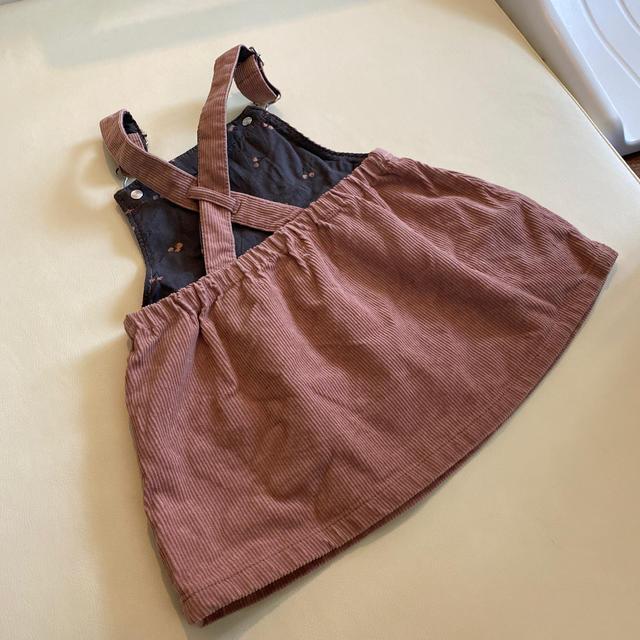 ZARA(ザラ)のZARA コーデュロイピンク74 キッズ/ベビー/マタニティのベビー服(~85cm)(ワンピース)の商品写真