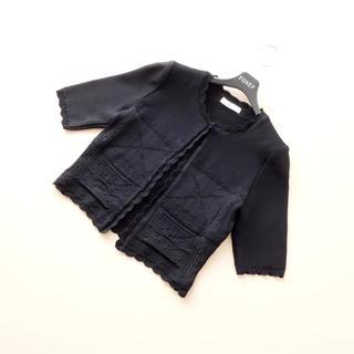 René - ■Rene■ 38 おしゃれ編み カーディガン 黒