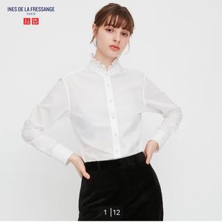 UNIQLO - 未使用 ユニクロ コットンフリルシャツ XLサイズ