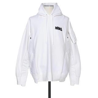 サカイ(sacai)のXSサイズ Nike sacai ナイキ サカイ フーディー パーカー ホワイト(パーカー)