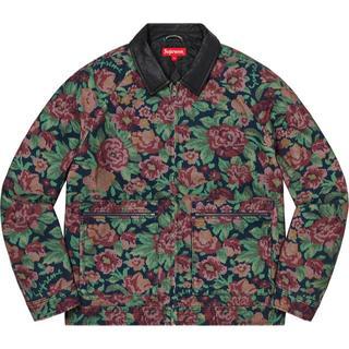 シュプリーム(Supreme)の希少 XL supreme Leather Collar Work Jacket(スタジャン)