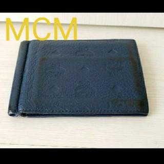 エムシーエム(MCM)のMCM ロゴモノグラムレザー2つ折りカードケース(名刺入れ/定期入れ)