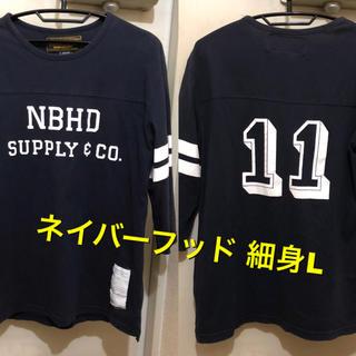NEIGHBORHOOD - 細身Lサイズ!日本製 ネイバーフッド 古着五分袖フットボールTシャツ