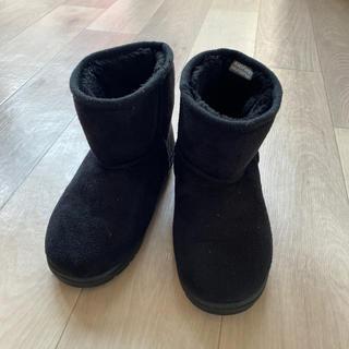 ムージョンジョン(mou jon jon)の19cm 黒 ブラック ムートン風☆ブーツ 美品(ブーツ)