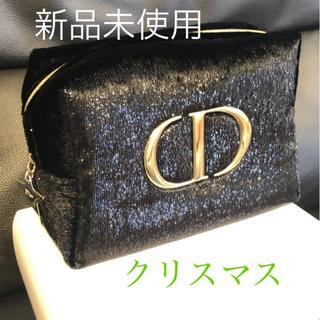 Christian Dior - ディオール クリスマス 黒ゴールド ノベルティ ポーチ