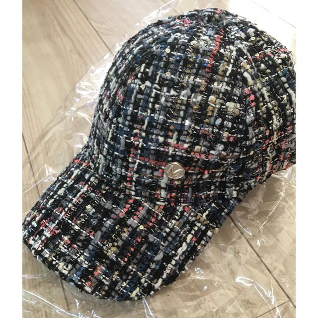 ZARA(ザラ)のshowme ツイードキャップ 完売 新品 レディースの帽子(キャップ)の商品写真