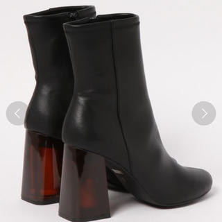 スライ(SLY)の【新品未使用】SLY CLEAR HEEL BOOTS ブーツ フェイクレザー(ブーツ)