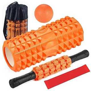オレンジフォームローラー 筋膜リリース 5点セット ヨガポール ストレッチ ステ
