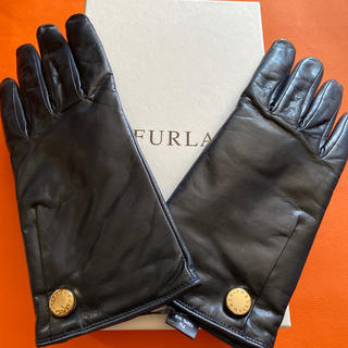 Furla - 新品未使用 フルラ羊革カシミヤ手袋