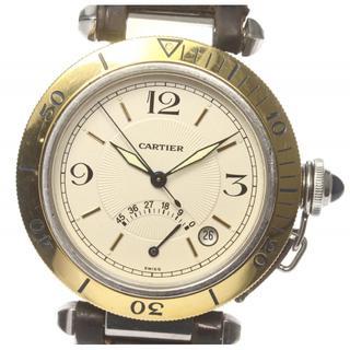 カルティエ(Cartier)のカルティエ パシャ38mm パワーリザーブ W31012H3 メンズ 【中古】(腕時計(アナログ))