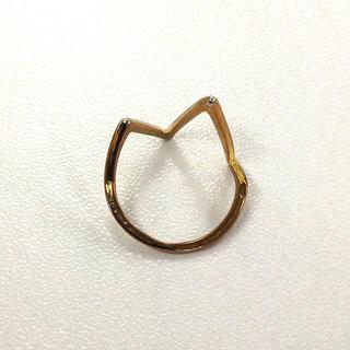 三角 ライン リング (ゴールド)(リング(指輪))