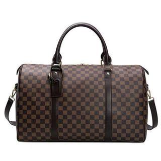 メンズ★大容量ボストンバッグ◆旅行バッグ◆スポーツバッグ◆新品◆チェック柄上質