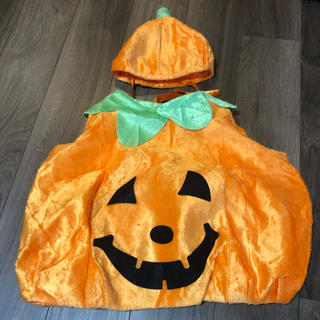 エイチアンドエム(H&M)のハロウィン キッズベビー仮装 かぼちゃ90 100(衣装)