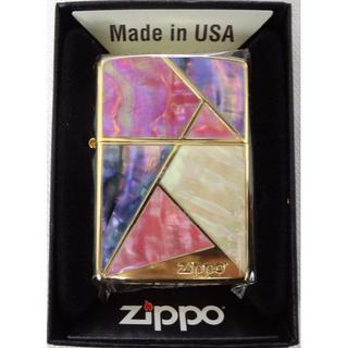 ジッポー(ZIPPO)の新品 ZIPPO マルチカットシェルゴールド 2G-MULTI 定価13200円(タバコグッズ)