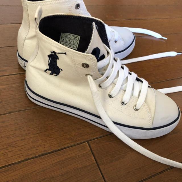 POLO RALPH LAUREN(ポロラルフローレン)のラルフローレンハイカットスニーカー レディースの靴/シューズ(スニーカー)の商品写真