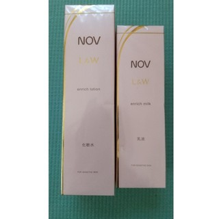 NOV - 新品  ノブ L&W  エンリッチローション ミルクセット