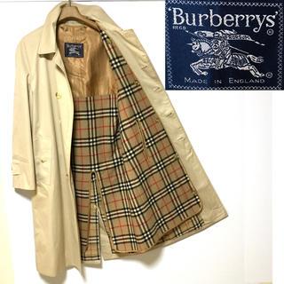BURBERRY - 希少!イングランド製!バーバリープローサム ノバチェック最上級ランクコート