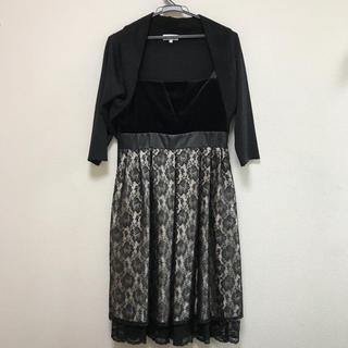 ニッセン(ニッセン)のドレス  9AR ボレロ Lサイズ 花柄レース ニッセン(ひざ丈ワンピース)