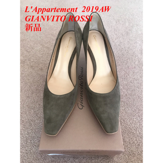 L'Appartement DEUXIEME CLASSE - GIANVITO ROSSI スウェード 7cmヒールパンプス
