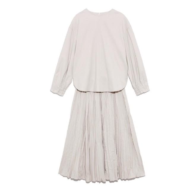 Mila Owen(ミラオーウェン)の値下げ プリーツスカートセットアップ 中古品 レディースのワンピース(ロングワンピース/マキシワンピース)の商品写真