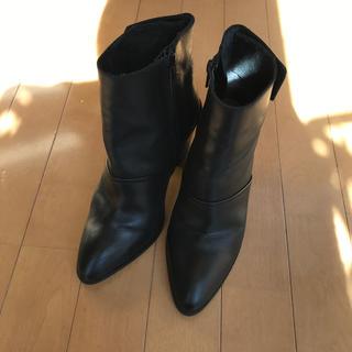 エイソス(asos)のASOS ショートブーツ ブラック レザーブーツ(ブーツ)