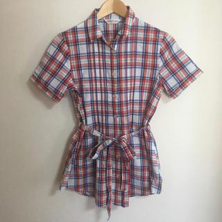 ギャップ(GAP)のBRICK HOUSE チェックシャツ M(シャツ/ブラウス(半袖/袖なし))