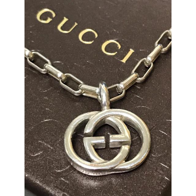 Gucci(グッチ)の正規品 GUCCI グッチ シルバー インターロッキング ネックレス 美品 18 メンズのアクセサリー(ネックレス)の商品写真