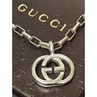 グッチ(Gucci)の正規品 GUCCI グッチ シルバー インターロッキング ネックレス 美品 18(ネックレス)