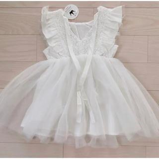 プティマイン(petit main)のワンピース ドレス チュールドレス レース(ドレス/フォーマル)