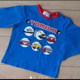 トミカ長袖Tシャツ サイズ90 働く車 消防車 ショベルカー パトカー