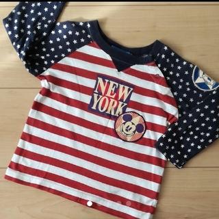 Disney - ミッキー長袖T シャツ サイズ80 レトロミッキー