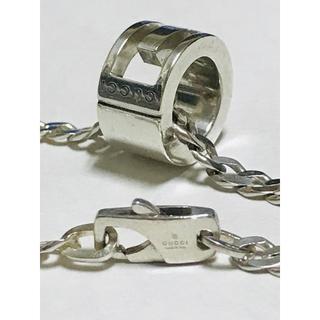 グッチ(Gucci)の正規品 GUCCI グッチ シルバー アイコン リング ネックレス 美品 14(ネックレス)