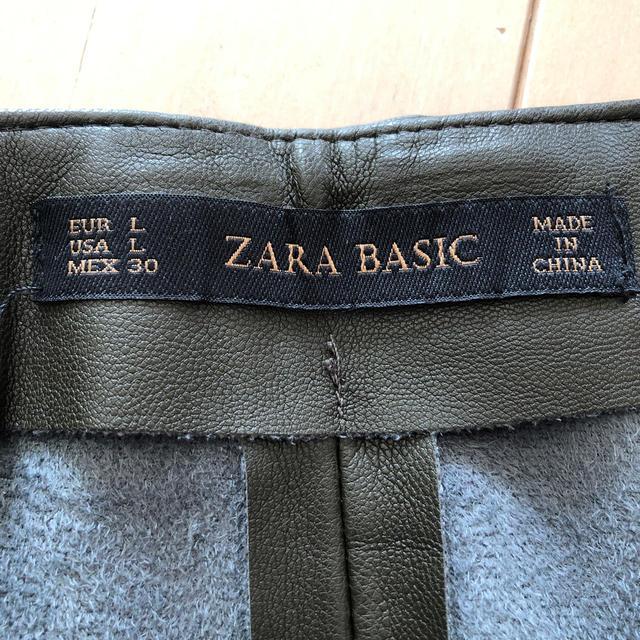 ZARA(ザラ)のZARA フェイクレザースカート レディースのスカート(ひざ丈スカート)の商品写真