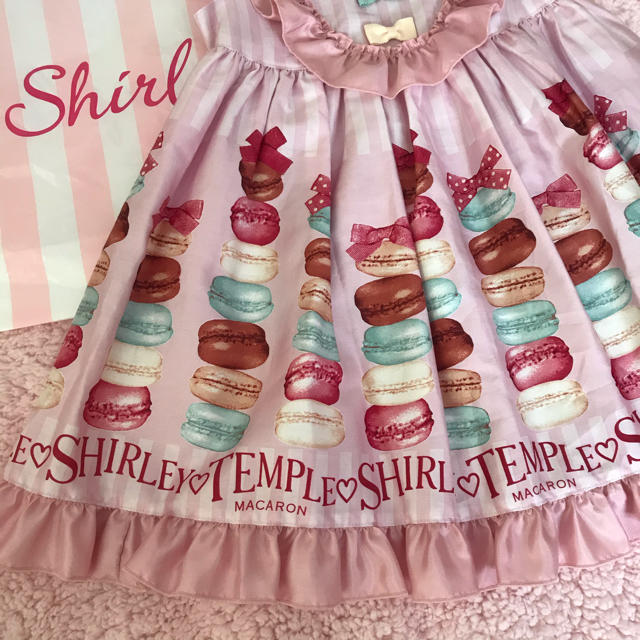 Shirley Temple(シャーリーテンプル)のシャーリーテンプル マカロン ジャンパースカート 新品 キッズ/ベビー/マタニティのキッズ服女の子用(90cm~)(ワンピース)の商品写真