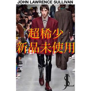 JOHN LAWRENCE SULLIVAN - JOHN LAWRENCE SULLIVAN  フレア パンツ パテント 黒