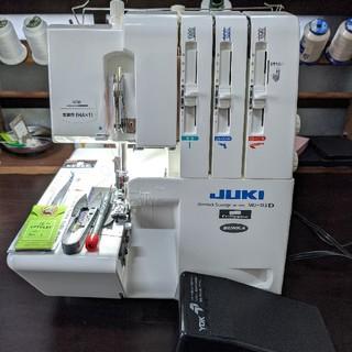 brother - 【美品LED整備済み】juki mo 113 ロック ミシン 本体 糸付き