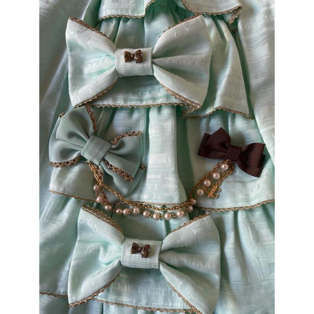 Angelic Pretty(アンジェリックプリティー)のmelty royal chocolate 5点セット レディースのワンピース(ひざ丈ワンピース)の商品写真
