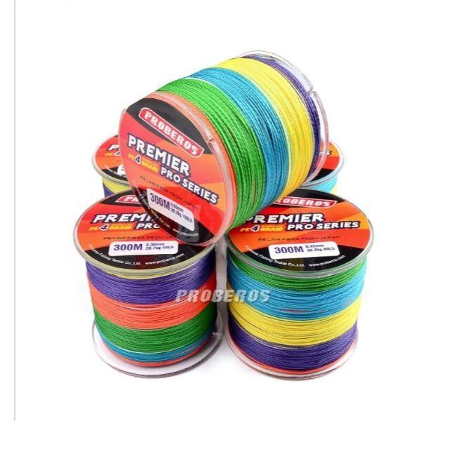 PEライン 高強度 PRO 2号 25lb/500m巻き 5色 カラー 釣り糸 スポーツ/アウトドアのフィッシング(釣り糸/ライン)の商品写真