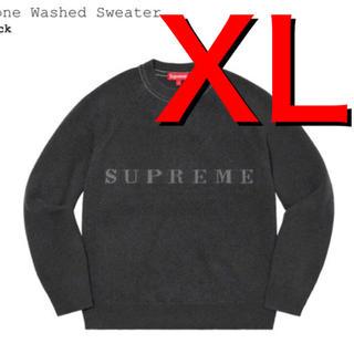 Supreme - supreme Stone Washed Sweater  ブラック セーター