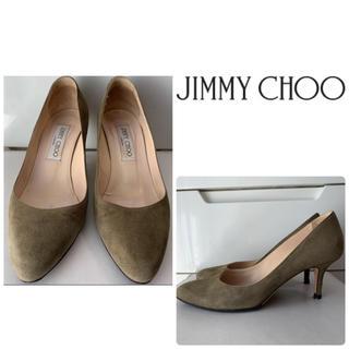 JIMMY CHOO - ジミーチュウ カーキスエード パンプス
