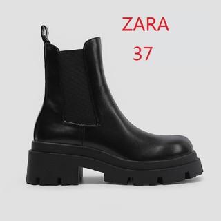 ZARA - ZARA ザラ 新品 トラックソール付きローヒールアンクルブーツ 24CM