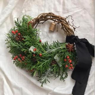 針葉樹のクリスマス リース 20cm ドライフラワー(リース)