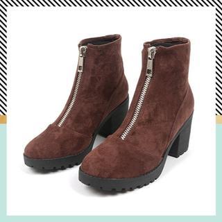 アダムエロぺ(Adam et Rope')の20AW|センタージップ ミドルブーツ 今季 秋冬 Boots ファスナー 新品(ブーツ)