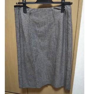 ジルサンダー(Jil Sander)のJIL SANDER  ウールタイトスカート(ひざ丈スカート)