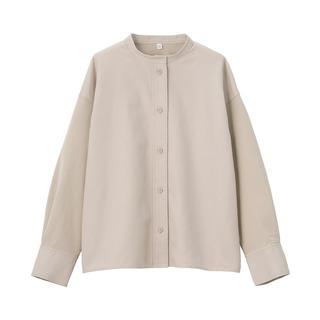 MUJI (無印良品) - 無印良品 新品 異素材コンビスタンドカラーシャツ ONE SIZE